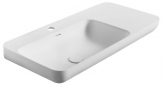 NIAGARA umývadlo s odkladacou plochou 90 cm vľavo matné biele
