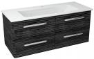 PURA skrinka s umývadlom 120 cm graphite line