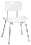 SENIOR stolička s operadlom pre telesne postihnutých