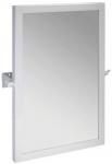 SENIOR zrkadlo výklopné 40 x 60 cm biele/nerez
