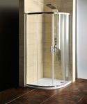 Gelco SET 2v1: Štvrťkruhový sprchový kút 90 cm + vanička