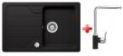 Schock FORMHAUS D-100S granitový drez 78x50 cm Nero+drezová batéria