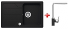 Schock FORMHAUS D-100S granitový drez 78x50 cm Onyx+drezová batéria
