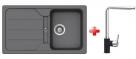 Schock FORMHAUS D-100 granitový drez 86x50 cm Croma+drezová batéria