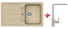 Schock FORMHAUS D-100 granitový drez 86x50 cm Sabia+drezová batéria