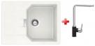 Schock MANHATTAN D-100 S granitový drez 69x51 cm Alpina+drezová batéria