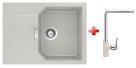 Schock MANHATTAN D-100 S granitový drez 69x51 cm Beton+drezová batéria