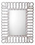 SEVILLA zrkadlo v ráme 80 cm biele