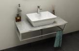 SKA Fior di Pesco doska pod umývadlo s bielou konštrukciou 90 cm