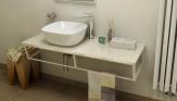 SKA Botticino doska pod umývadlo s bielou konštrukciou 120 cm