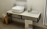 SKA Botticino doska pod umývadlo s čiernou konštrukciou 120 cm