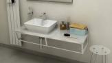 SKA Fior di Pesco doska pod umývadlo s bielou konštrukciou 120 cm