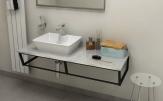 SKA Fior di Pesco doska pod umývadlo s čiernou konštrukciou 120 cm