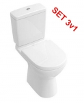 Villeroy & Boch O.NOVO set 3v1: WC misa kombi+nádržka+sedátko SoftClose