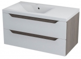 WAVE skrinka s umývadlom 90 cm biela/mali ľavá