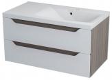 WAVE skrinka s umývadlom 90 cm biela/mali pravá
