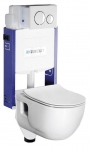 Geberit WC set 5 v 1: Kombifix Eco + Brilla rimless + Softclose